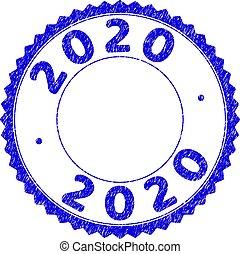 ロゼット, textured, シール, 切手, 2020, ラウンド, グランジ