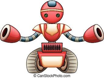 ロボット, 赤, 漫画
