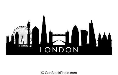 ロンドン, スカイライン, silhouette.