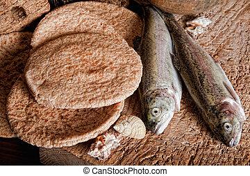 ローフ, fish, 5, 2, bread