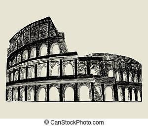 ローマ人, coliseum.