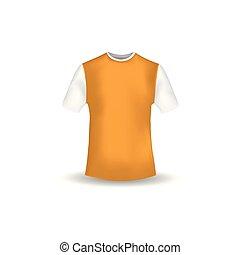 ワイシャツ, mockup, ベクトル, デザイン, t, テンプレート