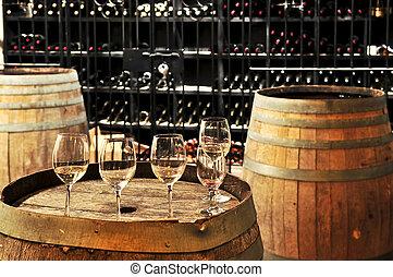 ワイン ガラス, 樽