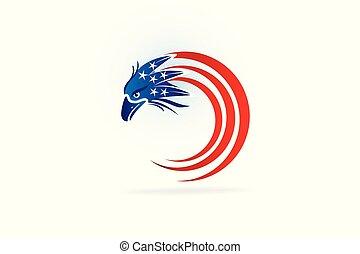 ワシ, ロゴ, シンボル, 旗