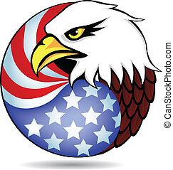 ワシ, 旗, アメリカ, ∥そうした∥