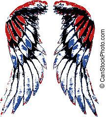 ワシ, 翼, アメリカ, 肖像画