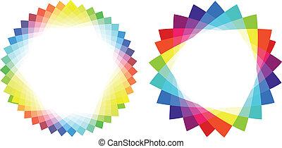 三角形, カラフルである, ベクトル, フレーム