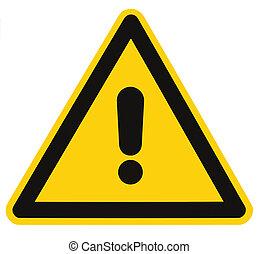 三角形, 危険, マクロ, 隔離された, 危険標識, 警告, ブランク