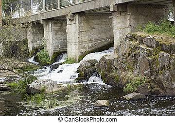 下に, 川, 橋