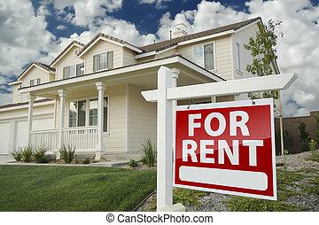 不動産, 家, 印, 賃貸料, 前部