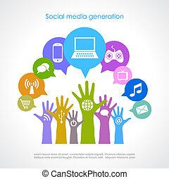 世代, 媒体, 社会