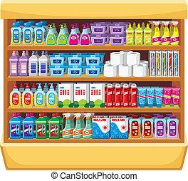 世帯, shelfs, 化学薬品
