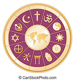 世界宗教, 地図