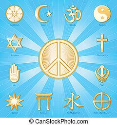 世界平和, 宗教, シンボル