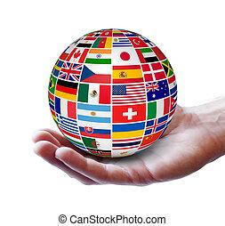 世界的である, インターナショナル, 概念, ビジネス