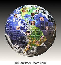 世界的である, 人々, ネットワーク