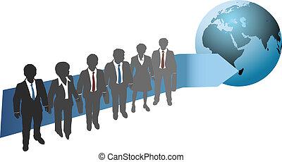 世界的である, 未来, 仕事, ビジネス 人々