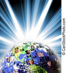 世界的なネットワーク, 人々, 世界的に