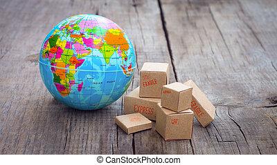 世界, エクスポート, 輸入