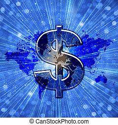 世界, ドル