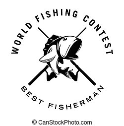 世界, バッジ, 釣り, コンテスト