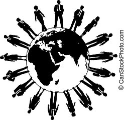 世界, 人々, 労働力, ビジネス チーム