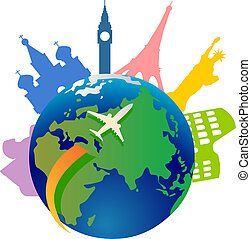 世界, 旅行, のまわり