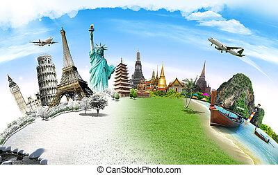 世界 旅行, 概念, 記念碑