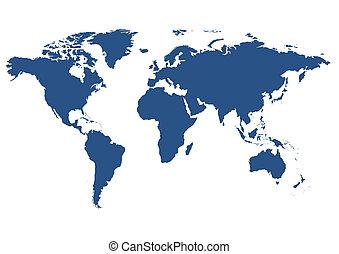 世界, 隔離された, 地図