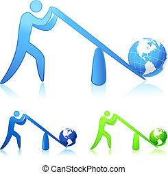 世界, (leverage), 持ち上がること