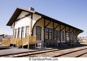 世紀, 駅, 列車, 回転