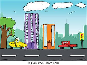 世間知らず, 芸術, 都市