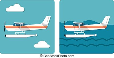 両生動物, 小さい飛行機