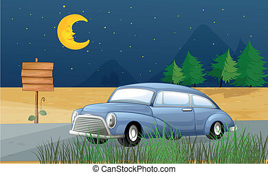 中央, 自動車, 動くこと, 夜