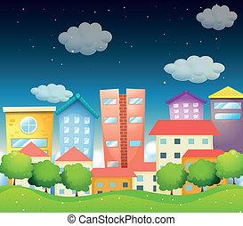 中央, 都市眺め, 夜