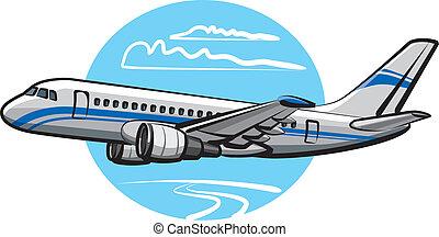 乗客, 飛行機