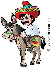 乗馬, ろば, メキシコ人