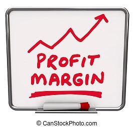 乾きなさい, 所得, 矢, ビジネス, 利益, お金, 会社, 増加, ペン, 消しなさい, 上昇, 板, 言葉, マーカー, 引かれる, 網, 作られた, マージン, ∥あるいは∥, 赤, 例証しなさい