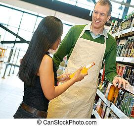 事務員, 食料雑貨品店, 有用
