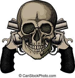 交差させる, 2, 頭骨, リボルバー