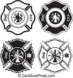 交差点, 消防士, シンボル