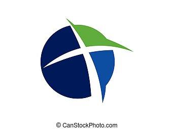 交差点, symbols., 教会, 印, logo., キリスト教徒, イエス・キリスト
