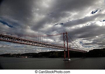 交差, 懸濁液, 川, 橋