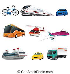 交通機関, 公衆, アイコン