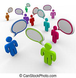 人々, コミュニケーション, -, 秩序を乱された, 話すこと, かつて