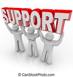 人々, サポート, 時, 負担, あなたの, 持ち上がること, 困難