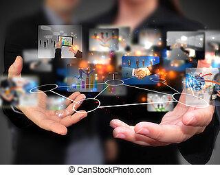 人々, 保有物, 媒体, 社会, ビジネス
