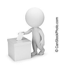 人々, 投票, -, 3d, 小さい