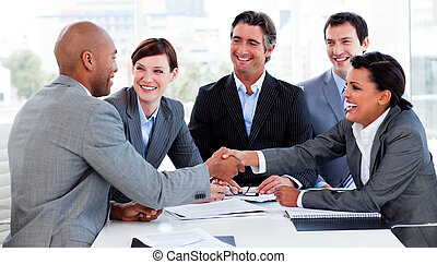 人々, 挨拶, 他, ビジネス, それぞれ, 多民族