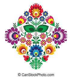 人々, 花, 刺繍, patern